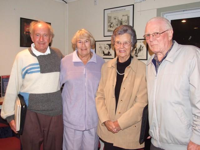 Don and Julie Gyton, Noelene and Johnny Raitt are amonng the first to register at Thursday night drinks.