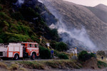 A typical summer occupation - chasing scrub fires around Pukerua Bay.