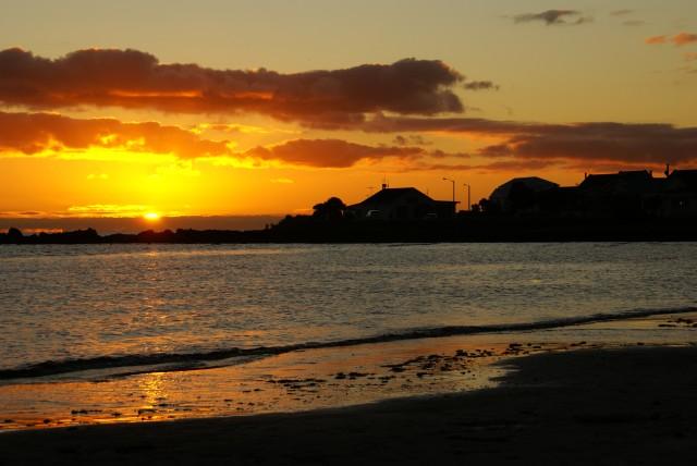 Sunset behind the station, 21 Nov 2011