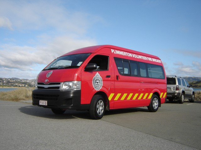 Our new 2010 HiAce logistical support vehicle