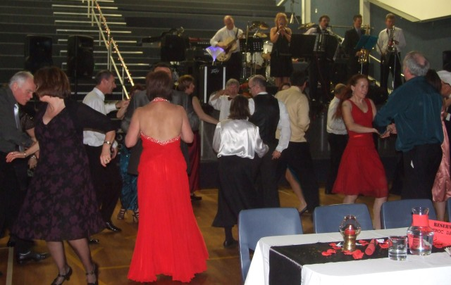 Firefighter John Forster, his wife Jenny and colleagues provided the swing and rock and roll for the first half...