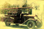 Our first mechanised appliance - a converted 1930 Chrysler straight six Royal Sedan.