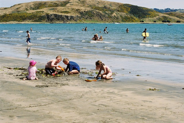 Plimmerton is a seaside suburb with a safe family beach on one side of the fire station, and a surf beach on the other side.