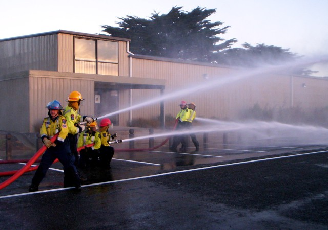 ... so we ran out endless amounts of hose to our own truck, and then even more hose so pump operators could deal with fluctuating pressures, etc.