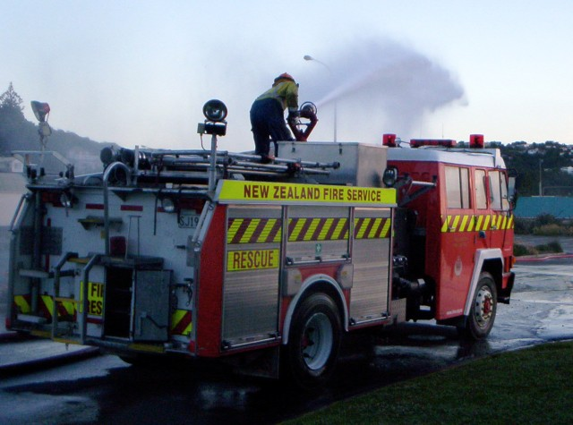 ...and when your brigade is equipment-deprived in not having a water cannon - you just have to try any truck that has one.